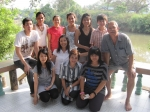 Richard Renas: Myself, wife, son and daughter in back row with in-laws in Thailand March 2011