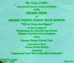 Class of '71 Prom Invitation    'We've only just begun'