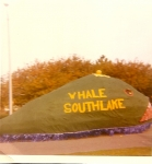 Junior class Whale from Homecoming 1969-70, Class of 71 wins float contest!