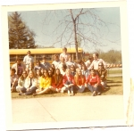 Senior Skip Day Detroit Zoo - Back row Bob Reaser, John Allen, etc., front row r-l Sue Gallego,  Jill Shoaps, etc