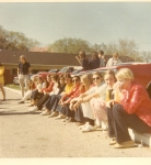 Senior Skip Day - Detroit Zoo, front; Joann Knippenberg, Kitty Markey, Bob Reaser, Jill Shoaps, Sue Gallego, Sue Moesta,
