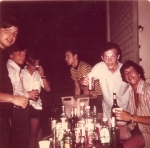 Senior trip to the Bahamas party---front r Tony Cecchini, Craig Henderson, front l Roger Ulmer
