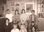 1967 Party bottom row r-l Joni Johnson, Debbie Peterson, Jeri Feryus, Donna Carroll, Sue Macri, Jay Seiloff, Laurie King