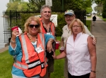 Pam Killebrew Alessandro, Jack Barbier, Gary Hill, Dawn Danielson Hill -- directing traffic at the entrance gate --(phot